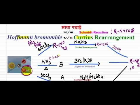 Hoffmann bromamide Reaction with Mechanism  animation Hindi and English I Upadhyay chemistry