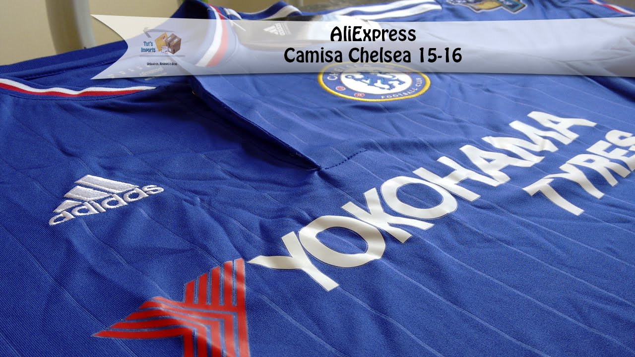 05 - Camisa Chelsea Home 15-16 - Unboxing AliExpress - YouTube f3f0720cafb10