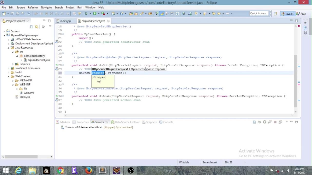 Servlet Code To Pdf File