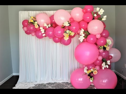 Pink Balloon Garland Backdrop DIY | How To
