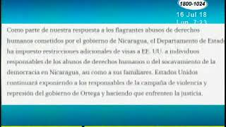 Embajada de EE.UU. anunció otra ronda de revocaciones de visas a funcionarios nicaragüenses