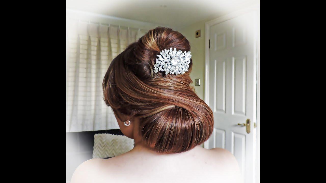 elegant bridal hairstyle - youtube
