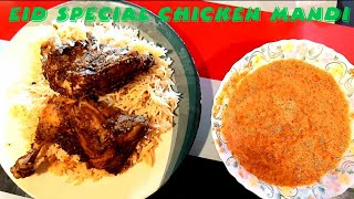 Chicken Mandi Quick Recipe Without Oven  Eid Special  How To Make Arabic Mandi Rice  Afza&#39s World