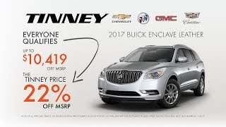 2017 Buick Enclave Year End Current Incentives | Tinney Automotive Greenville MI