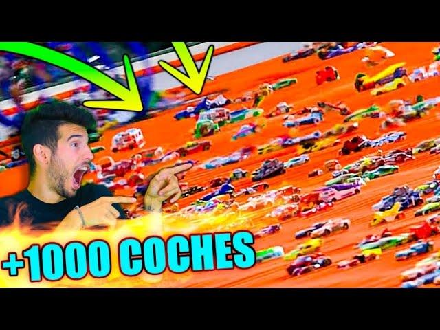 LANZAMOS 1000 COCHES DE HOT WHEELS A LA VEZ POR LAS OFICINAS DE LA NEW LEVEL !!! ÉPICO Makiman