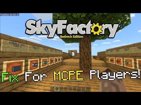 SkyFactory Bedrock Edition 1.12.0 PE Map FIX!(Android/IOS Players)