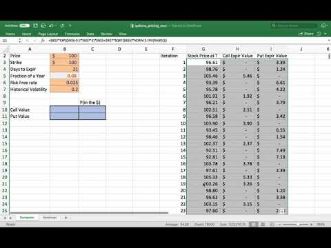 How to Value Stock Options with Monte Carlo Simulation in Excel