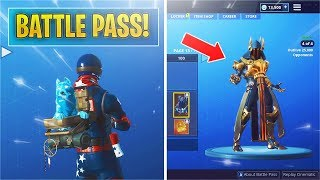 Showcasing *NEW* Season 7 Battle Pass! Fortnite Season 7 Battle Pass 100 TIERS