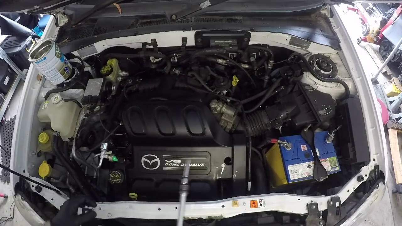 Mazda Tribute Ford Escape V6 Engine Removal Part 1 Of 2 Youtube