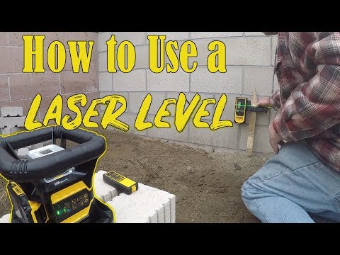 How To Use A Laser Level For Concrete Levels (New Dewalt Rotary Laser Level)