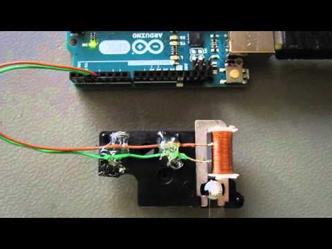 Stepping a small clock motor with Arduino