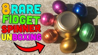 TOP 8 RAREST FIDGET SPINNERS UNBOXING!? (Awesome Spinners)