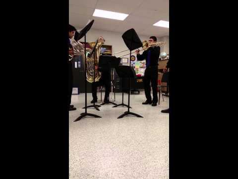 """Sonata from """"Die Bänklsangerlieder"""" brass quintet"""