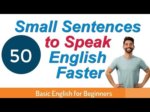 50 Small Sentences To Speak English Faster   Daily use sentences in English   English for Beginners