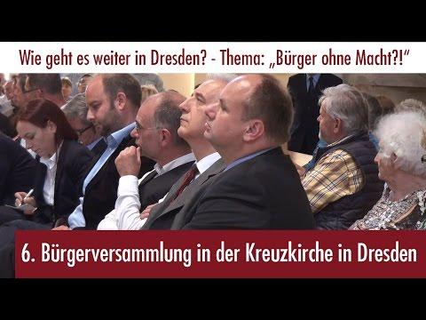 6. Bürgerversammlung in der Kreuzkirche in Dresden (09.06.2016) mit Stanislaw Tillich