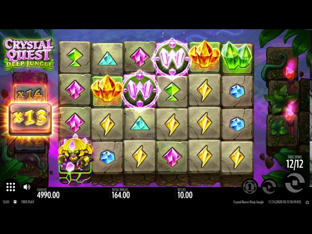 Crystal Quest: Deep Jungle Slot Play Free ▷ RTP 96.1% & High Volatility video preview