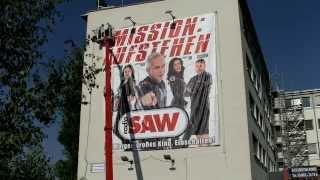XXXXXXL-Muckefuck-Plakat in Halle