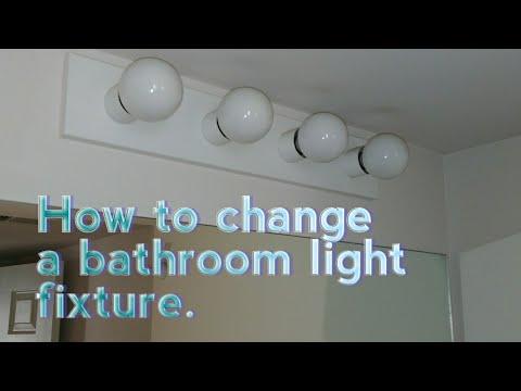 How to replace a bathroom light fixture. DIY