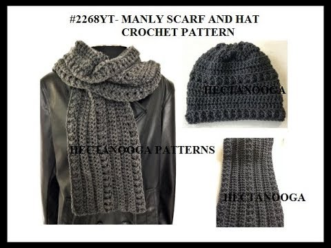 Mens Winter Scarf Crochet Pattern Fast Easy Scarf Pattern 2268yt