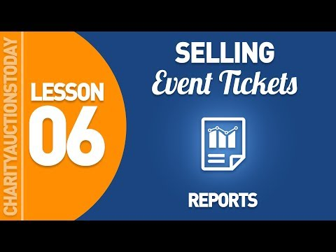 Selling Event Tickets Lesson 6 - Reporting