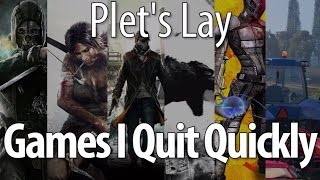 Games I Quit Quickly - Drunk Gaming