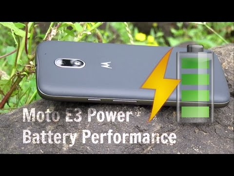 Moto E3 Power battery performance