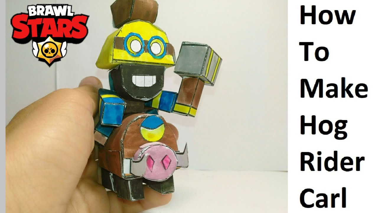 How to make a paper Brawl Stars Hog Rider Carl. Papercraft toy. Easy to make. Papercraft Brawl Stars