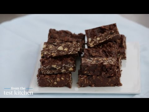 No-Bake Chocolate Almond Oat Bars - From the Test Kitchen