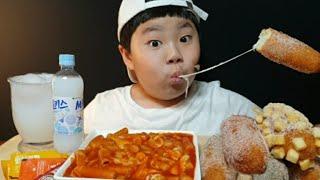 명랑핫도그 신메뉴 떡볶이먹방 |  사랑해요 밀키스~ | koreanfood | ASMR MUKBANG | EATING SHOW❤💗