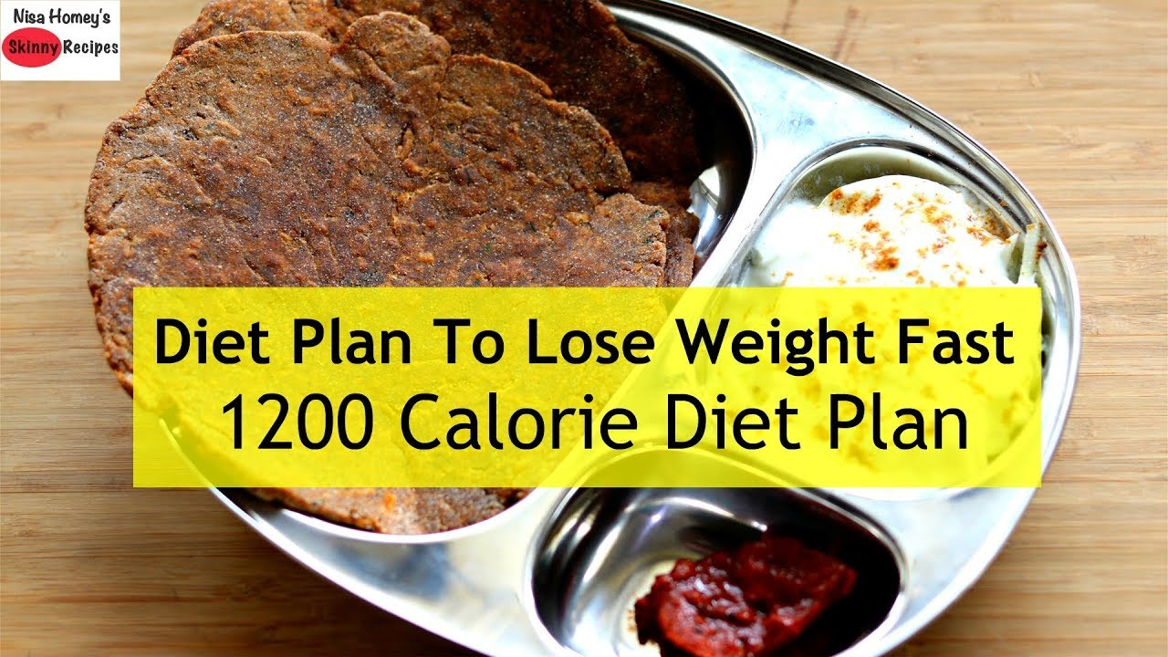 1200 Calorie Diet Plan To Lose Weight Fast - Full Day Meal