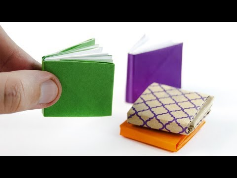 How to make a paper MINI Book | Paper Notebook | Mini DIARY | Origami Book