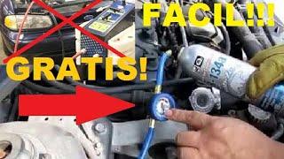 Como poner el gas freon a tu carro GRATIS!