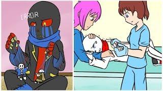 6 Momma CQ Bölüm 7 Undertale Comic Dub resmini