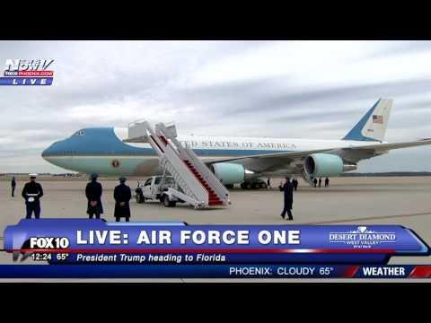 WATCH: President Trump Heads To Mar-A-Lago On Air Force One (FNN)