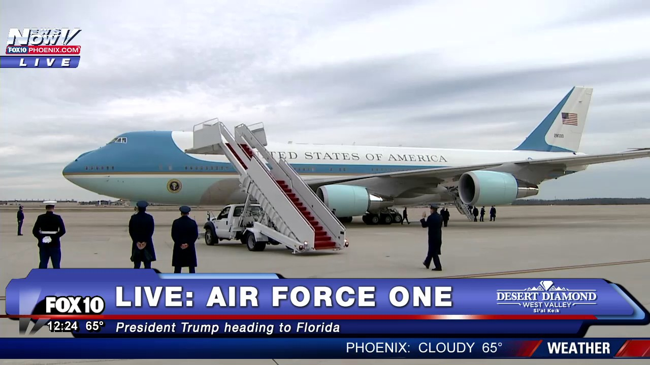 Watch President Trump Heads To Mar A Lago On Air Force