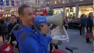 Epic London Protester is EPIC! (Oxford Circus Tube Station Speech) 23/10/2013 [Everything is OK]