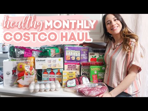 2020 MONTHLY COSTCO GROCERY HAUL ORGANIC   February healthy what I buy on a budget family of 4