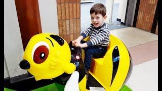 Alex Ride on the Yellow Bumble Bee -Playing Having Fun