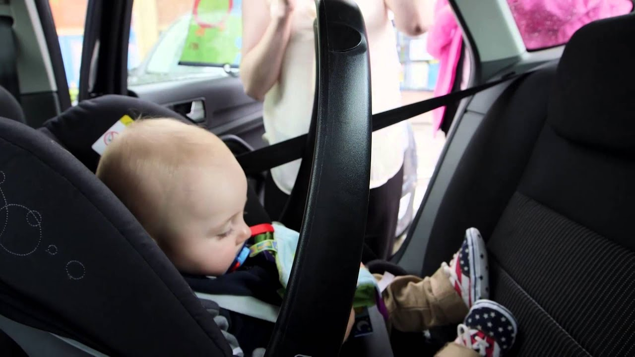 How to fit a rearward-facing car seat