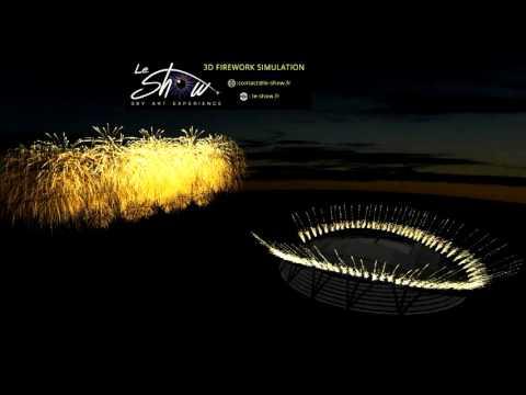 Firework 3D simulation on demand