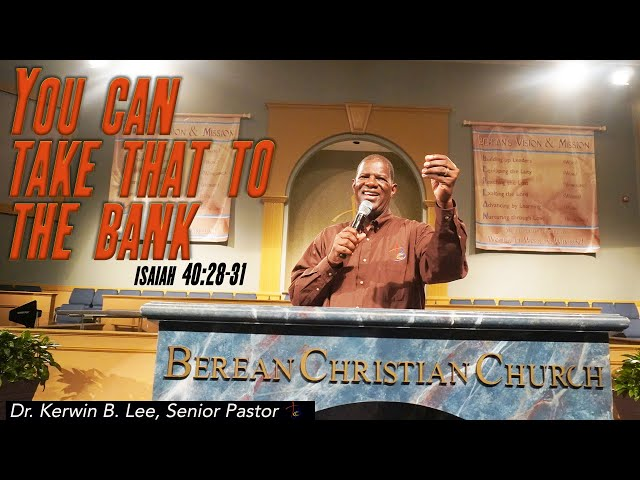 08-30-2020 Sunday Service: You Can Take that to the Bank