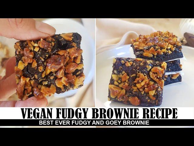 Vegan Fudgy Brownie Recipe