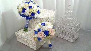 Свадебный букет в синих тонах.  Wedding bouquet in blue tones.