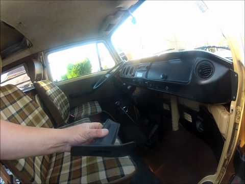 Removing the dash top on a 1979 Volkswagen Type 2 Part 4
