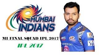 IPL 2017 !! Mumbai Indians Full Team Squad 2017-2018    Vivo Ipl 10