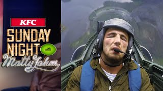 Sam Burgess and Matty Johns out of their comfort zone on a jet plane | Sunday Night with Matty Johns