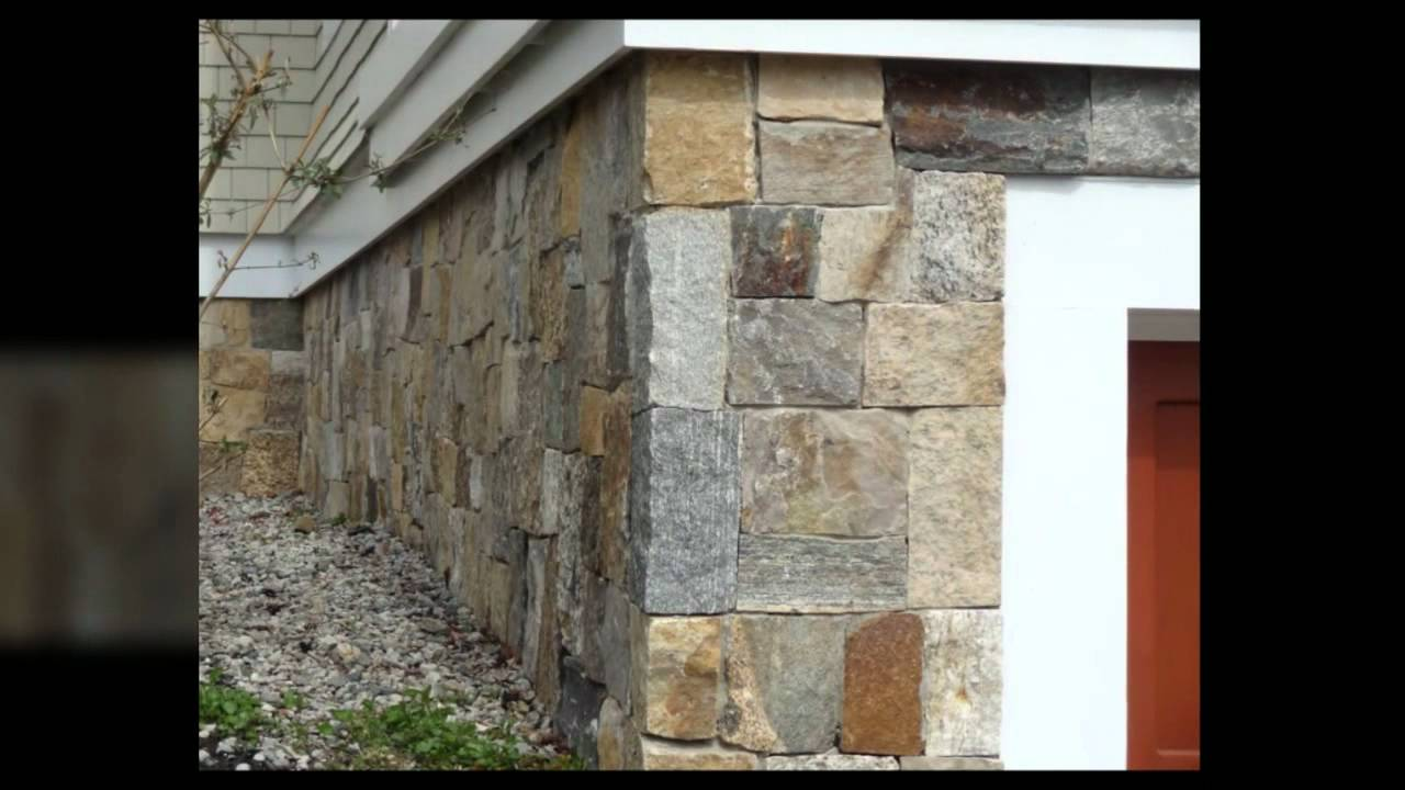 Fireplace stone thin natural veneer by stoneyard - New England Style Home With Boston Blend Square Rectangular Thin Natural Stone Veneer Youtube