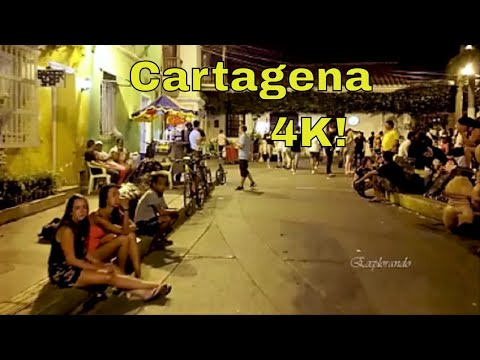 Cartagena Colombia Is More Beautiful At Night  Getsemani 4K