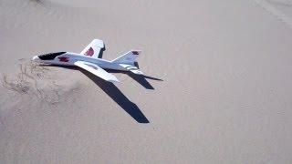 Air Hogs Titan Glider 5 minute flight thrown off Sand Mountain