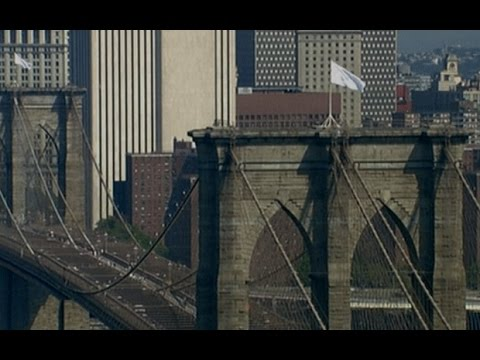 Brooklyn Bridge white flag mystery puzzles New Yorkers